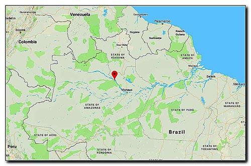 نقشۀ رودخانۀ آمازون